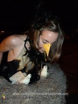 Homemade Mama Bird Halloween Costume