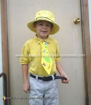 Homemade Man in the Yellow Hat Costume