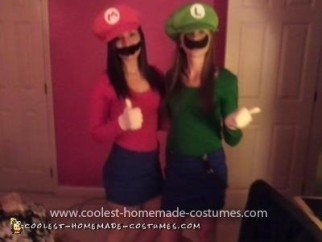 Homemade Mario and Luigi Costume