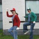 Homemade Mario and Luigi Couple Halloween Costume