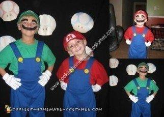 Homemade Mario Brothers Costume