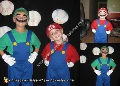 Homemade Mario Brothers Costume