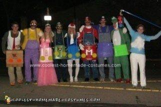 Homemade Mario Kart Brothers Group Costume