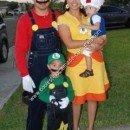 Homemade Mario, Luigi, Toad and Princess Daisy Group Costume