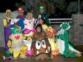 Homemade Mario Party Group Costume