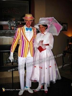 Homemade Mary Poppins and Burt Couple Costume