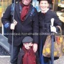 Homemade Mary Poppins Family Costume