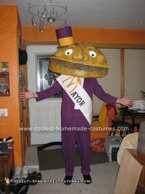 Homemade Mayor McCheese Costume