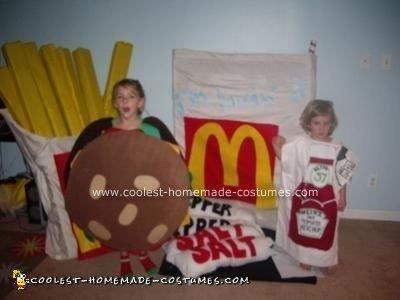 Homemade McDonalds Extra Value Meal Costume