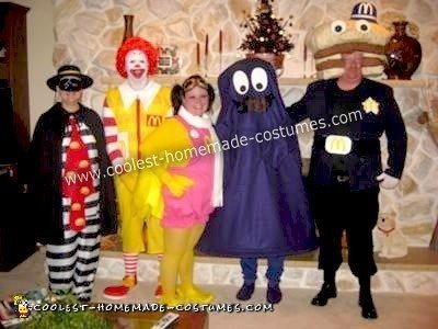 Homemade McDonald's Group Costume
