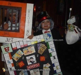 Homemade McDonalds Monopoly Couple DIY Costume