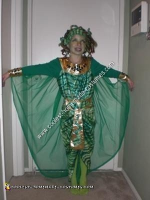 Homemade Medusa Unique Halloween Costume Idea
