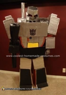 Homemade Megatrav Transformer Costume