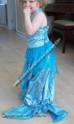 Homemade Mermaid Girl Costume