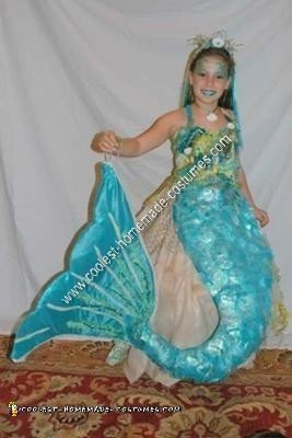 Homemade Mermaid on a Rock Unique Halloween Costume Idea