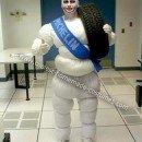 Homemade Michelin Man Costume