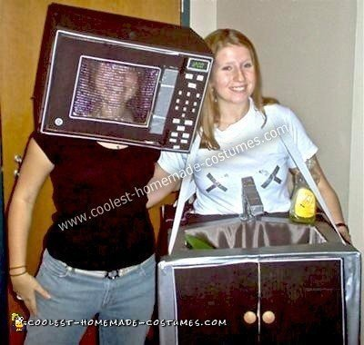 Homemade Microwave and Sink Kitchen Duo Costume