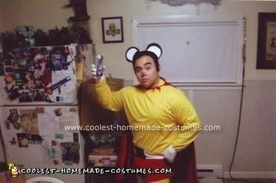 Homemade Mighty Mouse Costume