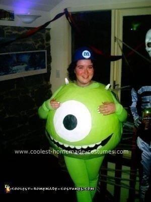 Homemade Mike Wasowski Costume