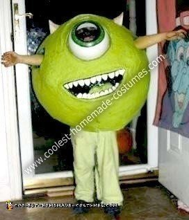 Coolest Homemade Mike Wazowski From Monster S Inc Costume