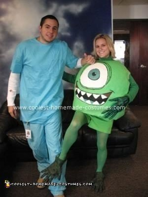 Homemade Mike Wazowski Halloween Costume
