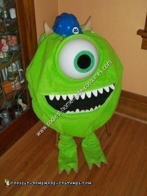 Homemade Mike Wazowski Halloween Costume Idea