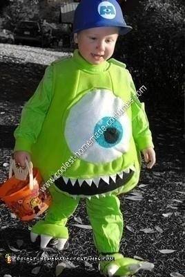 Homemade Mike Wazowski Unique Boy's Halloween Costume Idea