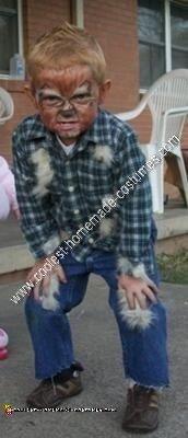 Homemade Mini Werewolf Boy Halloween Costume Idea