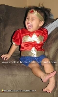 Homemade Mini Wonder Woman Costume