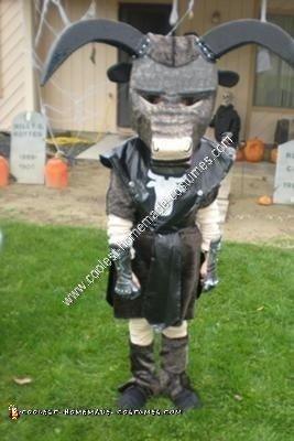 Homemade Minotaur Child Halloween Costume Idea