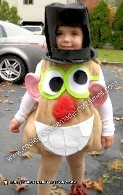 Homemade Mister Potato Head Child Halloween Costume