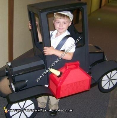 Homemade Model T Car Halloween Costume