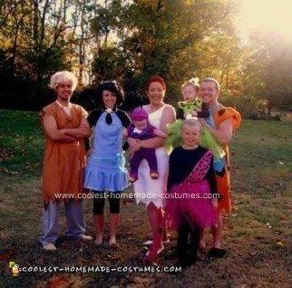 Homemade Modern Flintstones Family Halloween Costume