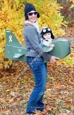 Homemade Mom and Baby Aviator Costumes