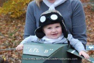 Homemade Mom and Baby Aviator Costumes