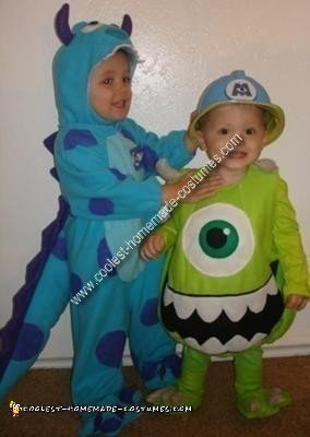 Homemade Monster's Inc Couple Costume