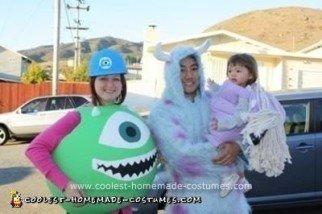 Homemade Monsters, Inc. Family Costume