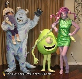 Homemade Monsters Inc Group Costume