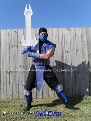 Homemade Mortal Kombat: SubZero The Frozen Master Costume