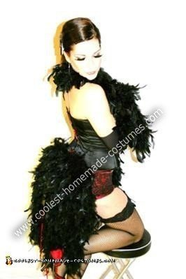 Homemade Moulin Rouge Burlesque Dancer Costume