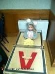 Homemade Mouse Trap Toddler Costume