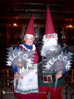 Homemade Mr. and Mrs. Garden Gnome Costumes