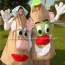 Homemade Mr. and Mrs. Potato Head Costume