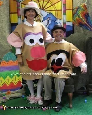 Homemade Mr. and Mrs. Potato Head Costumes