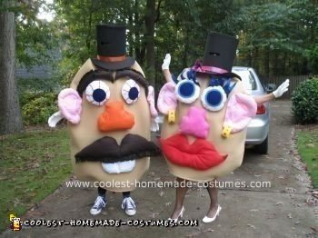 Homemade Mr. and Mrs. Potato Head Couple Costume