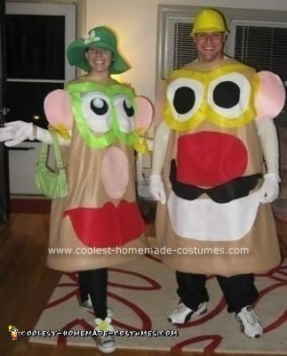 Homemade Mr. and Mrs. Potato Head Couple Costume