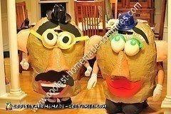 Homemade Mr. and Mrs. Potato Head Couple Halloween Costume