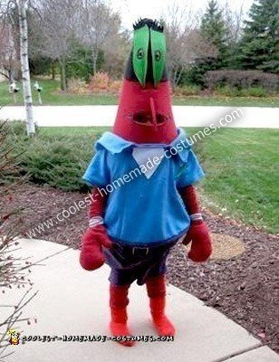 Homemade Mr. Krabs Costume from Sponge Bob