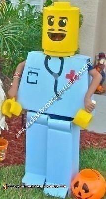 Homemade Mr. Legoman Halloween Costume Idea