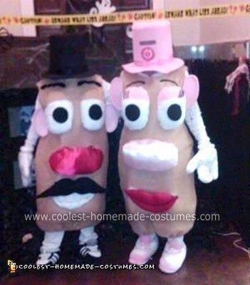 Homemade Mr. & Mrs. Potato Head Costumes